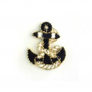 Anchor Iron-on Embroidery Sticker - Blue