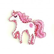 Iron-on Embroidery Sticker - Pink Unicorn