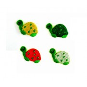 Iron-on Embroidery Sticker - Colored Turtles
