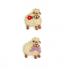 Iron-on Embroidery Sticker - Sheep