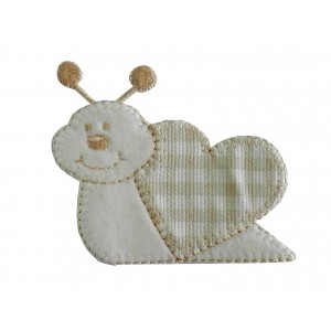 Iron-on Embroidery Sticker - Cream Snail