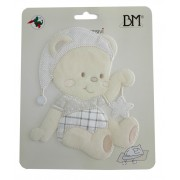 Iron-on Patch - Teddy Bear with Star -  Cream