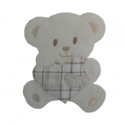 Iron-on Patch - Teddy Bear with Heart - Turtledove