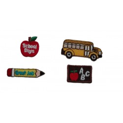 Iron-On Embroidery Sticker - School