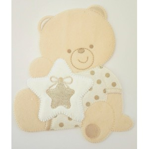 Iron-on Patch - Teddy Bear with Star -  Turtledove