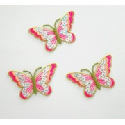 Iron-on Embroidery Sticker - Butterflies with Sequins