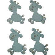 Iron-on Patch - Light Blue Giraffe