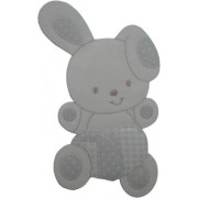 Iron-on Patch - Pearl Grey Rabbit woth Heart