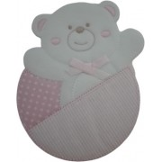 Iron-on Patch - Pink Teddy Bear Happy