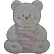 Iron-on Patch - Small Baby Teddy Bear - Pink