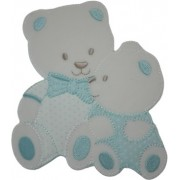 Iron-on Patch - Tenderly Light Blue Teddy Bears