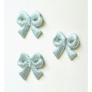 Iron-On Embroidery Sticker - Light Blue Bow