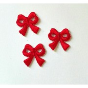 Iron-On Embroidery Sticker - Red Bow