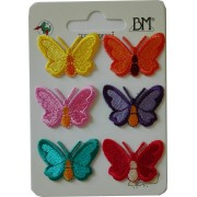 Iron-On Embroidery Sticker - Butterflies - Medium Size