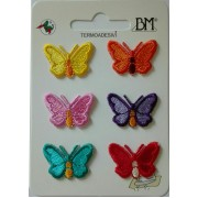 Iron-On Embroidery Sticker - Butterflies - Small Size