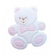 Iron-on Embroidery Sticker - Pink Bear