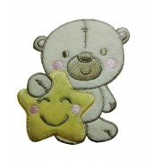 Iron-on Patch - Teddy Bear with Star