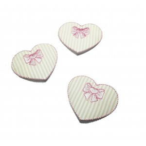 Marbet Iron-On Patch - Pink Heart