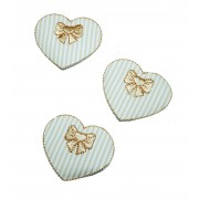 Marbet Iron-On Patch - Cream Heart
