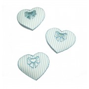 Marbet Iron-On Patch - Light Blue Heart