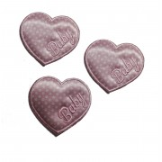 Marbet Iron-On Patch - Baby Pink Heart