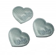 Marbet Iron-On Patch - Baby Light Blue Heart