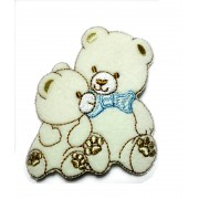 Iron-on Patch - Little and Cute Teddy Bear - Light Blue