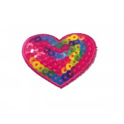 Paillettes Heart Patch