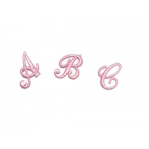Iron-on Patch Cursive Letters - Pink Color