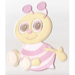Iron-on Patch - Pink Bee
