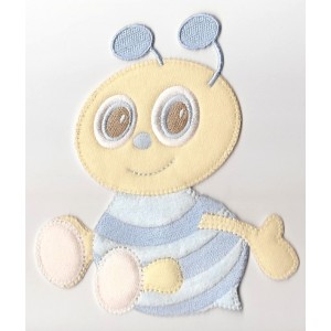 Iron-on Patch - Light Blue Bee