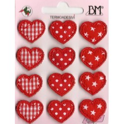 Iron-On Patch - Fantasy Small Hearts