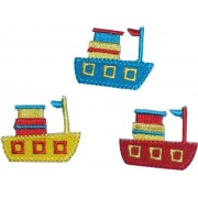 Iron-on Embroidery Sticker - Colored Small Boat
