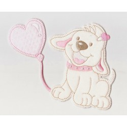 Iron-on Patch - Pink Dog