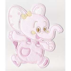 Iron-on Patch - Pink Elephant