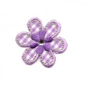 Iron-on Embroidery Sticker - Lilac Flower with Strass
