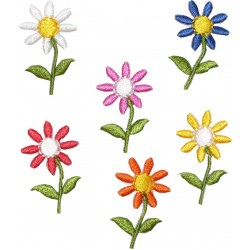 Iron-On Embroidery Sticker - Flowers
