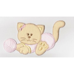 Iron-on Patch - Pink Cat