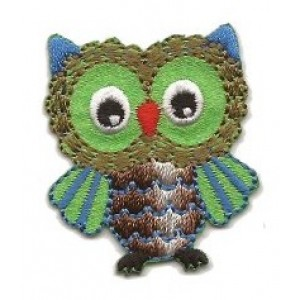 Iron-on Embroidery Sticker - Blue Owl
