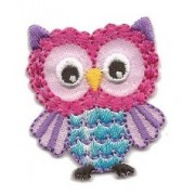Iron-on Embroidery Sticker - Pink Owl