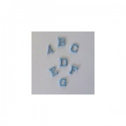 Iron-on Patch Letters - Light Blue