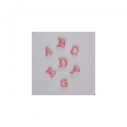 Iron-on Patch Letters - Pink