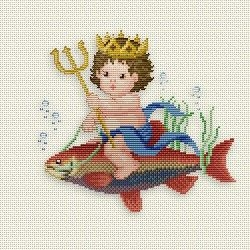 Counted Cross Stitch Charts -  Neptun