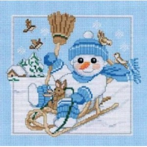 Counted Cross Stitch Charts -  Snow Baby's Big Brother