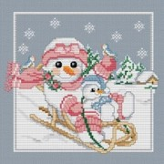 Counted Cross Stitch Charts -  Snow Baby's Big Sister