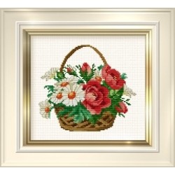 Counted Cross Stitch Charts -  Daisy Basket