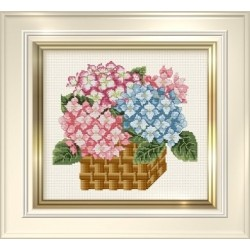 Counted Cross Stitch Charts -  Hydrangea Basket