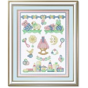 Counted Cross Stitch Charts - Baby Sampler