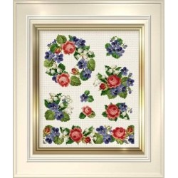 Counted Cross Stitch Charts -  Roses and Violets