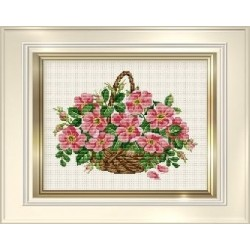Counted Cross Stitch Charts -  Wild Roses Basket